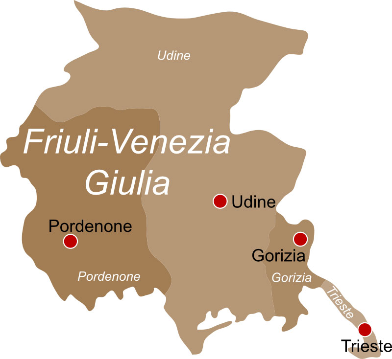 Regione Friuli Venezia Giulia Cartina.Regione Friuli Venezia Giulia Info Pesca Sportiva E Licenza Pescaok It